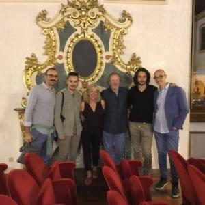 Il Premio OSCAR Chris COOPER e Marianne LEONE con lo staff del Sulmona International Film Festival